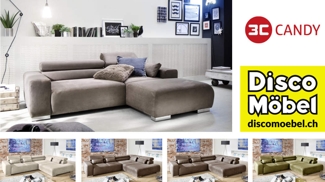 Sofa Alaska von 3C Candy Polstermöbel bei Disco Möbel, Marbach.