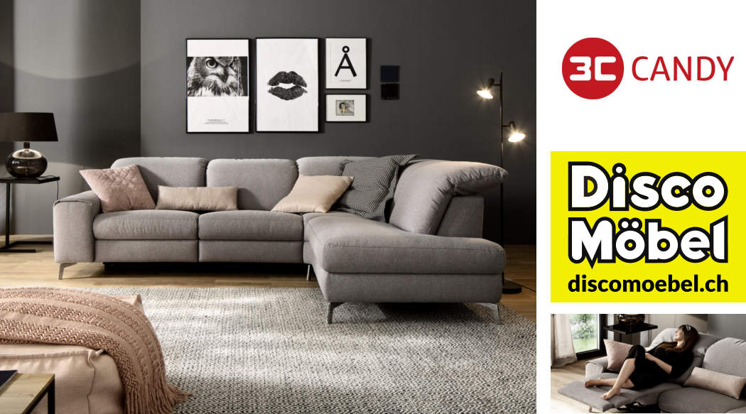 Sofa Highland von 3C Candy Polstermöbel bei Disco Möbel, Marbach.