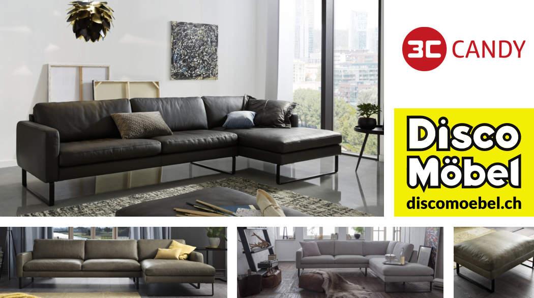 Sofa Ricadi von 3C Candy Polstermöbel bei Disco Möbel, Marbach.