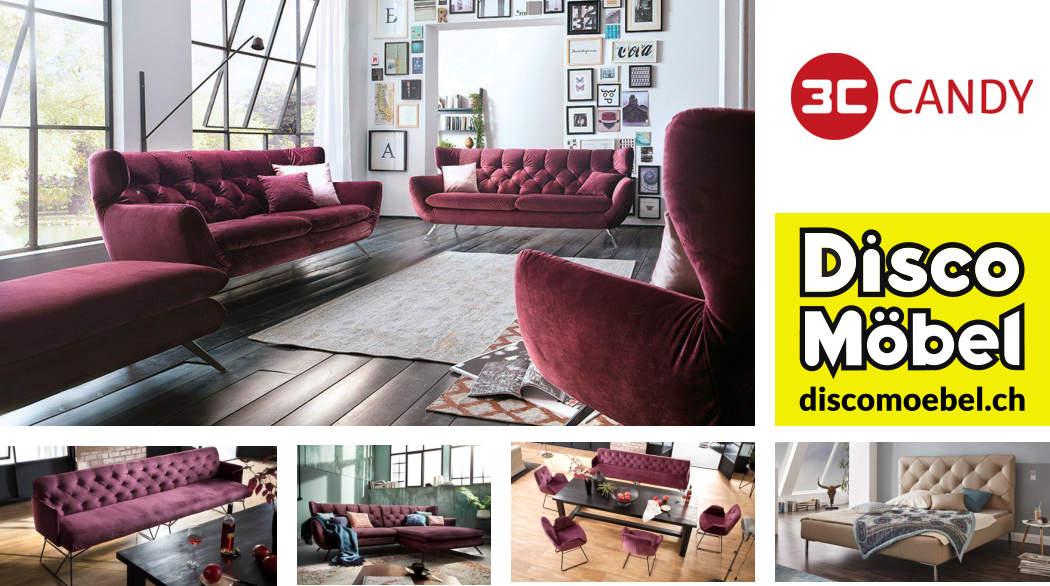 Sofa Sixty von 3C Candy Polstermöbel bei Disco Möbel, Marbach.