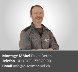David Beren ¦ Möbel Montagen
