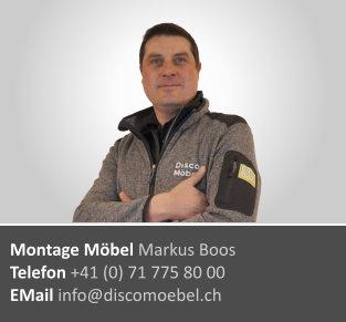 Markus Boos ¦ Möbel Montagen