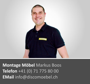 Markus Boos ¦ Möbel-Monteur