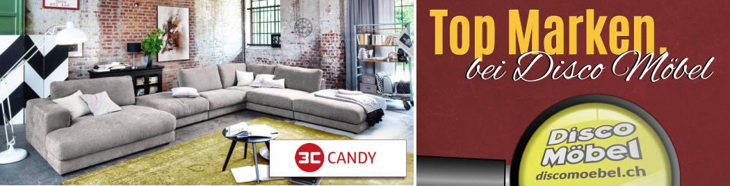 Wohneinrichtungen von 3C Candy Polstermöbel bei Disco Möbel, Marbach.