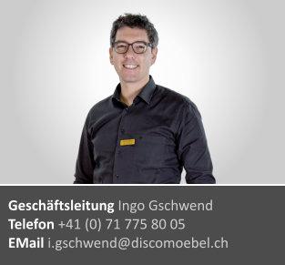 Ingo Gschwend ¦ Geschäftsinhaber Disco Möbel, Marbach