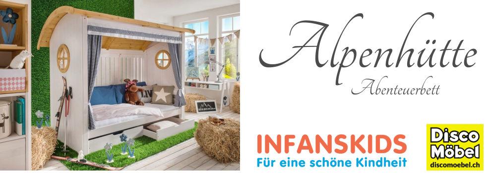 Infans-Abenteuerbett-Alpenhütte