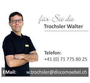 Küchenstudio, Beratung durch Walter Trochsler