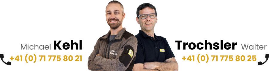 Küchenteam Disco Möbel, Michael Kehl und Walter Trochsler