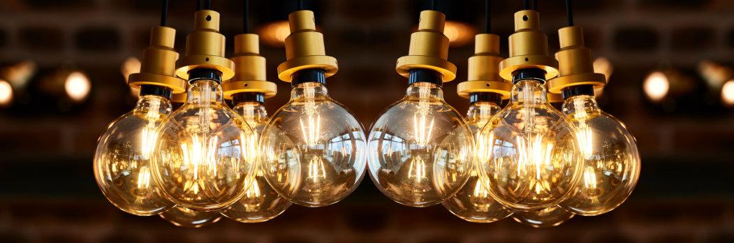 LED-Glühbirnen-Retro